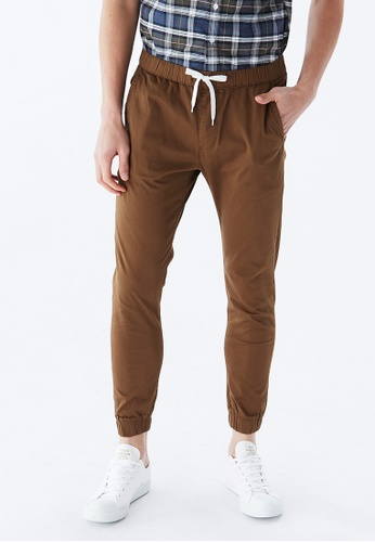 Life8 褐色 Casual Fashion Jogger Pants-02471-Brown F4EC9AAA19B600GS_1