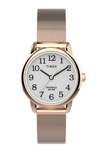 Timex gold Timex Easy Reader® 25mm Stainless Steel Mesh Band Watch - Rose Gold-Tone (TW2U08100) 91C71ACEA1C2A5GS_1