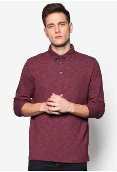 灰紋長袖 POLO 衫