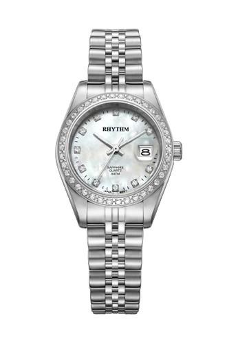 Rhythm RQ1618S 01 - Jam Tangan Wanita - Stainless - Silver White