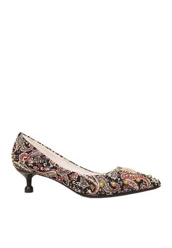Twenty Eight Shoes black 5cm Printed Rhinestone Evening and Bridal Shoes VP163 B81ADSHF22377DGS_1