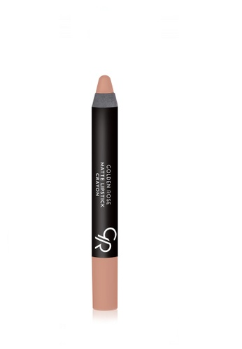 GOLDEN ROSE brown and beige Matte Lipstick Crayon - 15 GO743BE95DZSMY_1