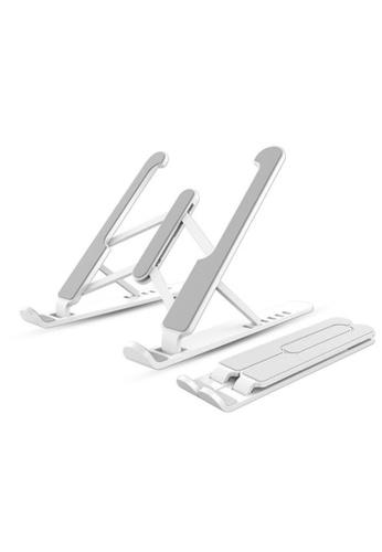 Klosh white Klosh Height Adjustable Laptop Stand - White 4B25FHL21A8C24GS_1