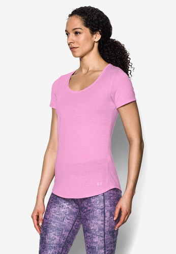 Under Armour pink Threadborne Streaker Short Sleeve Top UN337AA0SB3JMY_1