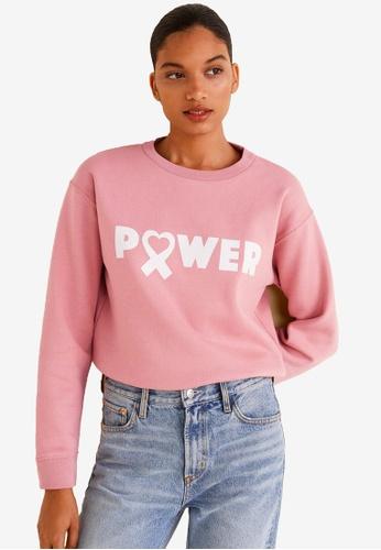 Mango pink Solidary Sweatshirt 6EB9DAA8077CB7GS_1
