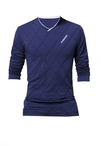 Twenty Eight Shoes blue VANSA Solid Color Long Sleeve Tee Shirt VCM-T1183 BBBADAA809245EGS_1