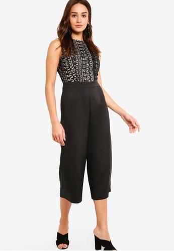 ZALORA black Lace Jumpsuit 4FCCBAADBB529BGS_1