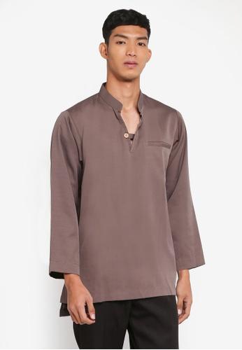 Klozet Kuala Lumpur brown Kurta Regular Mareek 804FAAA5257251GS_1