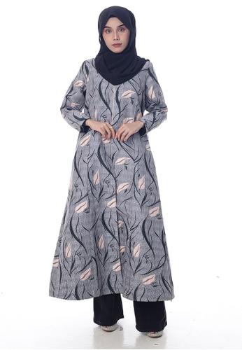 Denai Boutique grey Cardigan Khasifah 35E79AA56375DAGS_1