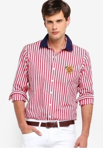 Sport Long Poplin Shirt Poplin Sleeve Sleeve Shirt Long Sleeve Long Sport kPn0N8wOXZ
