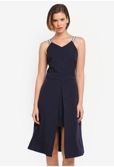 ZALORA navy Layered Skirt Dress 40220AAF306BA8GS_1