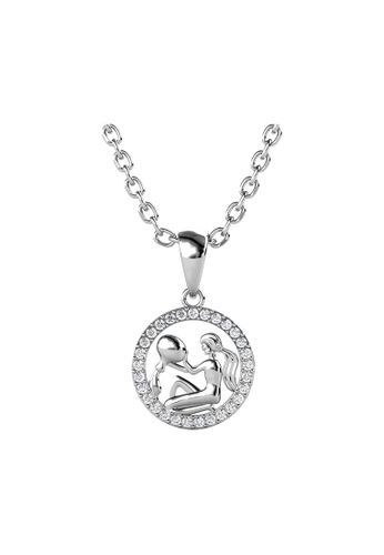 Her Jewellery 白色 Her Jewellery Circlet Aquarius Pendant with Necklace (White Gold) embellished with Crystals from Swarovski镶嵌施华洛世奇水晶 7E6AAAC76C296AGS_1