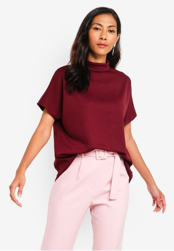 ZALORA BASICS red Basic High Neck Top 8AE9CAAA4284D6GS_1