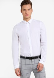 Topman white White Ultra Muscle Fit Smart Shirt TO413AA92FULMY_1