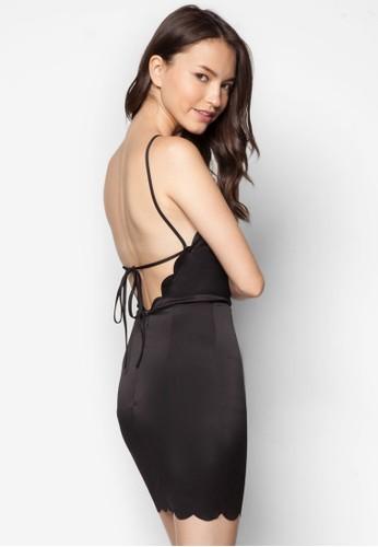 zalora 心得露背繫帶洋裝, 服飾, 洋裝