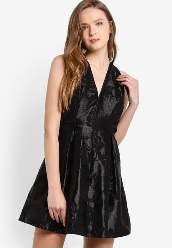 TOPSHOP black Twist Jacquard Prom Dress TO412AA27EWAMY_1