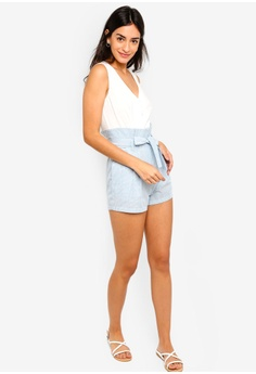 bc3eb2e3ecd 56% OFF ZALORA Buttoned Down Playsuit S  35.90 NOW S  15.90 Sizes XS