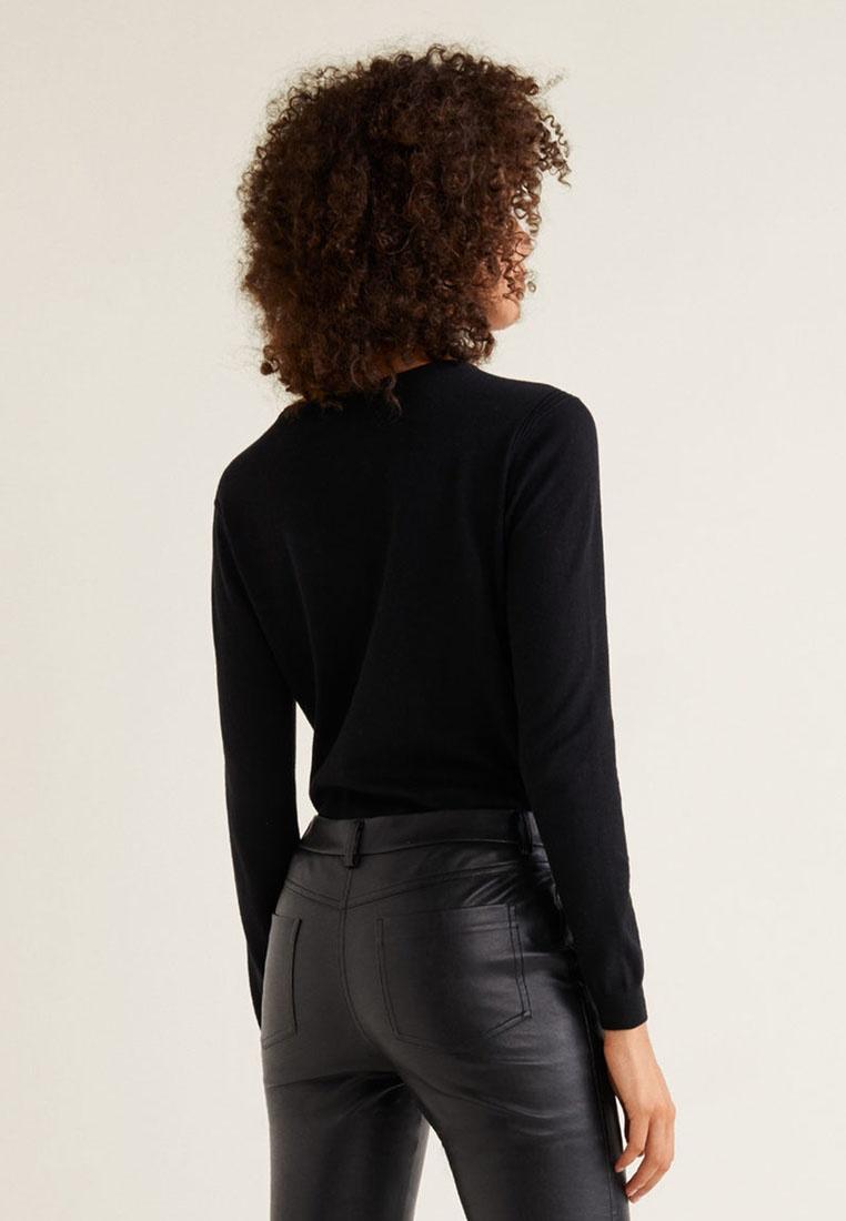 Mango Knit Fine Cotton Sweater Black Ax6ZqAn
