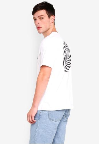 Factorie 白色 短袖印花T恤 6D92BAADD7C2A3GS_1