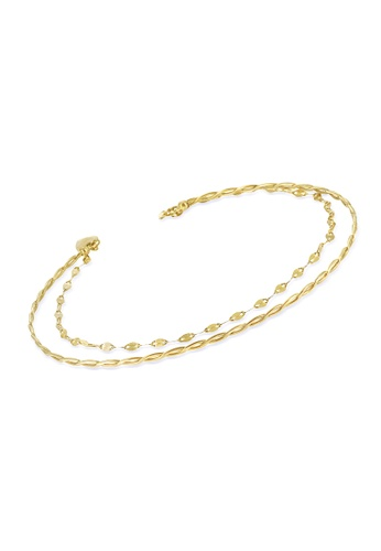 Jemocracy yellow and gold JEMOCRACY - The Future is Female - double-strand bracelet in 18k gold 45B31ACFF6F53EGS_1