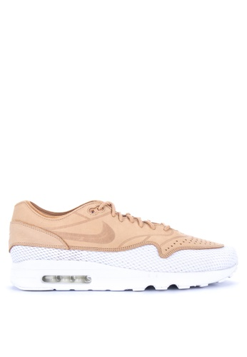 Nike white and brown Men's Air Max 1 Ultra 2.0 Premium BR Shoes B43F9SH71167D0GS_1