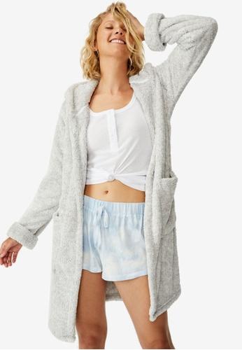 Cotton On Body grey Luxury Plush Gown Robe 90562AA85F3941GS_1