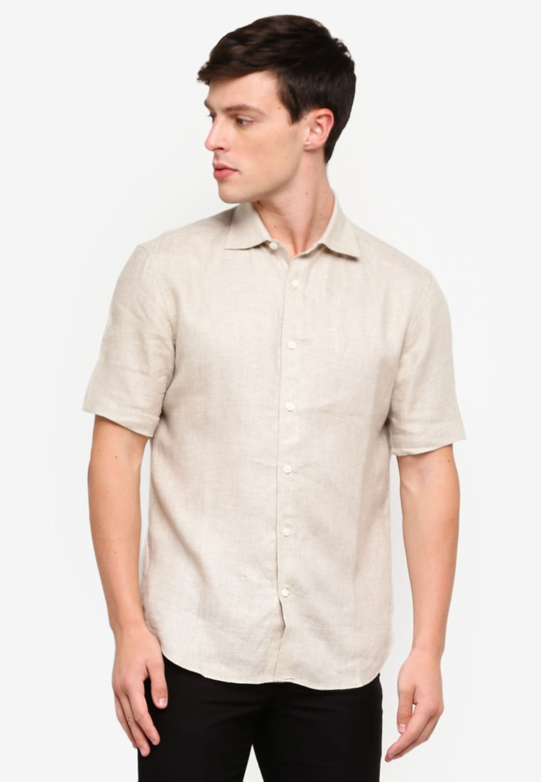 BROWN Shirt Casual D'urban Brown SS CpgwzXxq