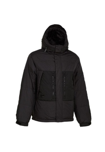 Universal Traveller black Universal Traveller Fitted Trendy Down Jacket - DJ 9052 3AC66AA0A187E3GS_1