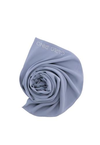 Carlo Rino Greyish Blue Blend of Comfort Crepe Scarf 69648AC3B57CB0GS_1