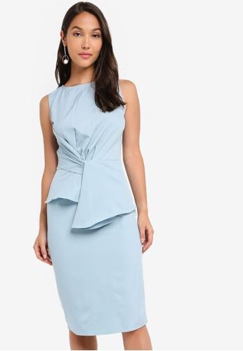 ZALORA 藍色 不規則洋裝 29330AA2C7250BGS_1