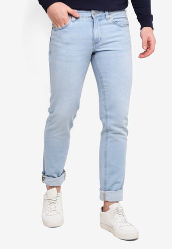 OVS blue Slim Fit Vintage-Effect Jeans 8FF0BAA5F0147FGS_1