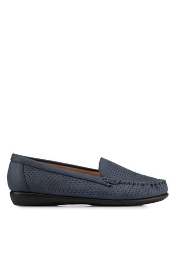Noveni blue and navy Noveni Comfort Loafers NO978SH0S9R0MY_1
