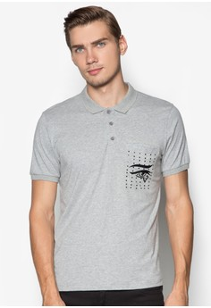 Polo With Embossed Pocket Print