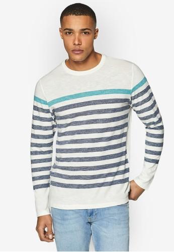 ESPRIT white Long Sleeve T-Shirt 67C6CAA8ECBAB1GS_1