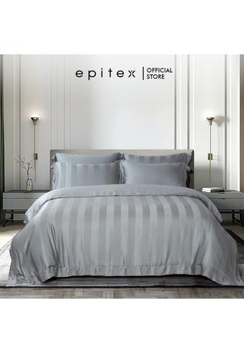Epitex grey Epitex Aqualine Collection AQ3307 1600TC Dobby Bedsheet - Fitted (w quilt cover) - (Dark Grey) F55BBHLD610910GS_1