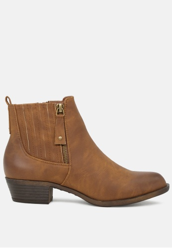London Rag 褐色 棕色的靴子 1691BSHDE2A1FAGS_1