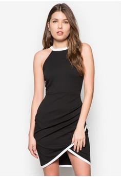 Pebbles Asymetric Contrast Trim Clubber Dress