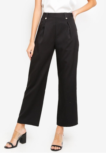 ZALORA black Wide Leg Pants A0F22AAF44F411GS_1