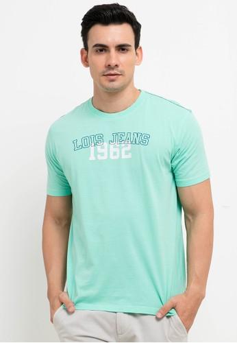 Lois Jeans green Cotton T-Shirt B275BAA970E6BAGS_1