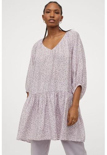 H&M purple Airy dress 87C33AA0F38717GS_1