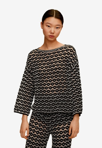 Mango black Cotton Crochet Sweater 65C0DAA0C2C489GS_1