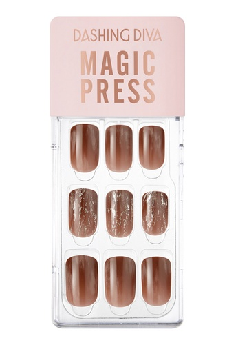 Dashing Diva brown Dashing Diva 1 SEC. MAGIC PRESS Manicure Vintage Brick/ Press on Nails /Nail Tips EECDDBE324C3AEGS_1