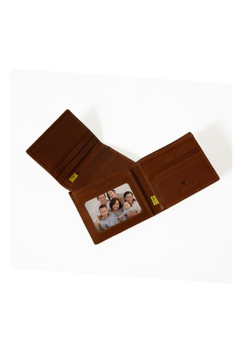 EXTREME brown Extreme Genuine Leather Short Wallet With Attached Cardholder RFID Skimming Vintage Brown FF264AC06E29F8GS_1