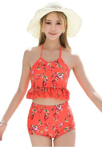 YG Fitness red (3pcs) Sexy Print Swimsuit Set 7767DUS1D3F393GS_1