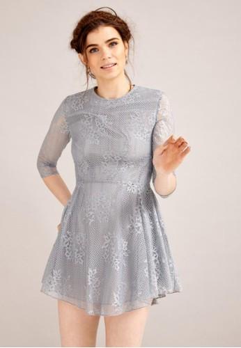 蕾絲雕花洋zalora 心得 ptt裝, 服飾, 短洋裝
