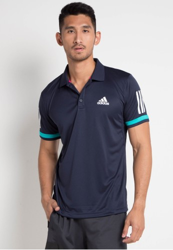 adidas navy adidas 3-stripes club polo shirt 552E7AA2181123GS_1