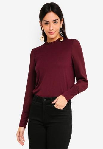 Vero Moda red Pippa Long Sleeve Top 7563AAA431C7C0GS_1