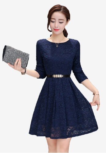 ef5416ed Buy Halo F/W Full Lace Dress With Belt | ZALORA HK
