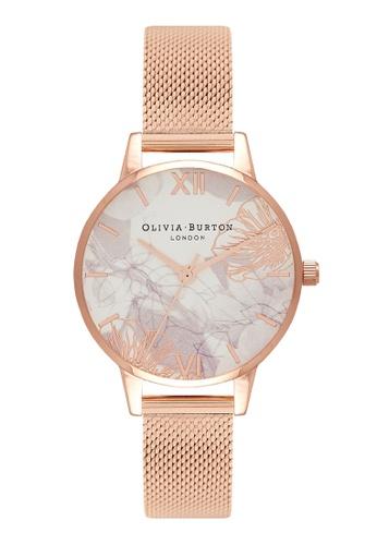 Olivia Burton gold Olivia Burton ABSTRACT FLORALS Rose-Gold 30 mm Women's Watch 64757AC4832241GS_1