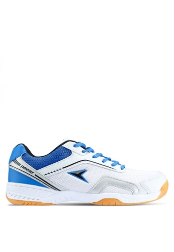Power white Athletic Badminton Shoes 8A62DSH9B545E9GS_1